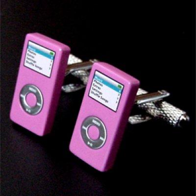 画像1: ピンクiPod nanoカフスボタン(カフリンクス)