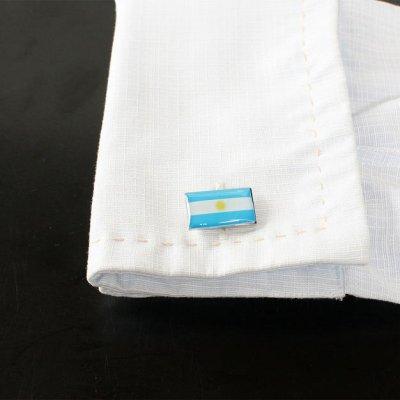 画像3: アルゼンチン国旗カフスボタン(カフリンクス)