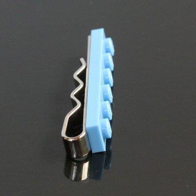 画像1: ライトブルーLEGOブロックネクタイピン(タイバー)