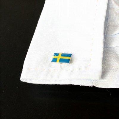 画像3: スウェーデン国旗カフスボタン(カフリンクス)
