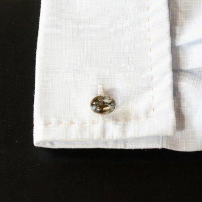 画像3: ブラックダイヤモンド・スワロフスキーカフスボタン(カフリンクス)