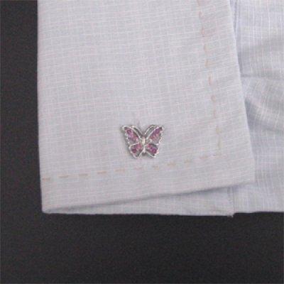 画像3: 蝶々カフスボタン(カフリンクス)