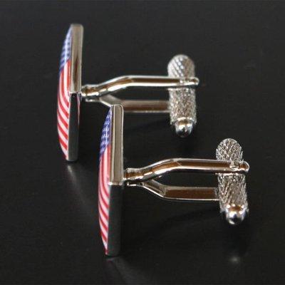 画像2: アメリカ国旗カフスボタン(カフリンクス)