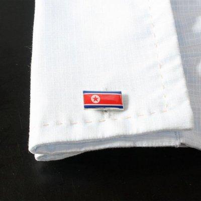 画像3: 北朝鮮国旗カフスボタン(カフリンクス)