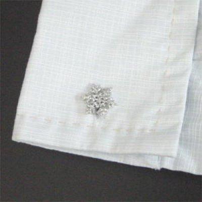 画像3: 雪の結晶カフスボタン(カフリンクス)