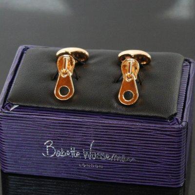 画像2: Babette Wasserman バベットワッサーマン ゴールドチャックカフスボタン(カフリンクス)