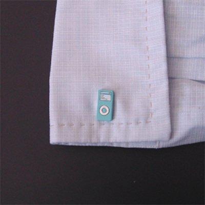 画像3: ライトブルーiPod nanoカフスボタン(カフリンクス)