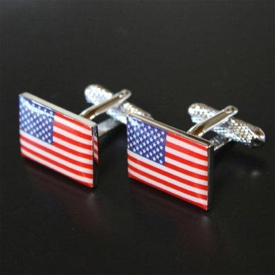 画像1: アメリカ国旗カフスボタン(カフリンクス)