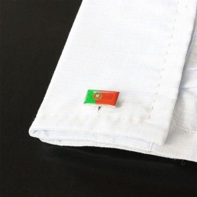 画像3: ポルトガル国旗カフスボタン(カフリンクス)