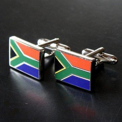画像1: 南アフリカ国旗カフスボタン(カフリンクス)