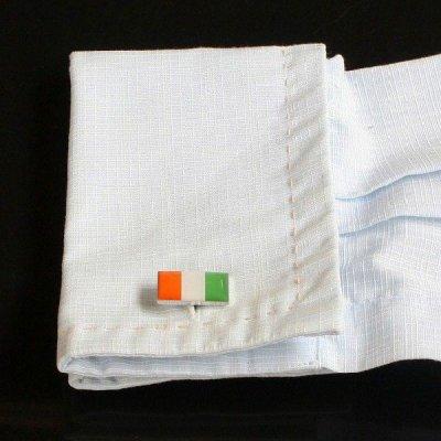 画像3: コートジボワール国旗カフスボタン(カフリンクス)