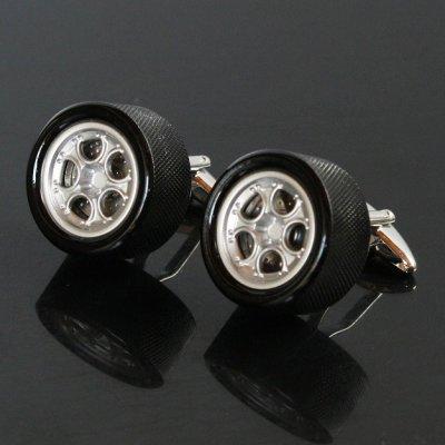画像1: タイヤホイールカフスボタン(カフリンクス)