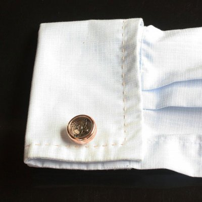 画像3: ピンクゴールドムーブメントデザインカフスボタン(カフリンクス)
