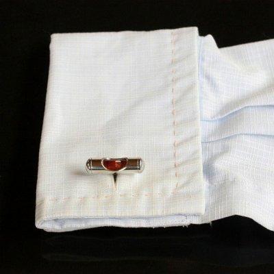 画像3: レッド水準器カフスボタン(カフリンクス)