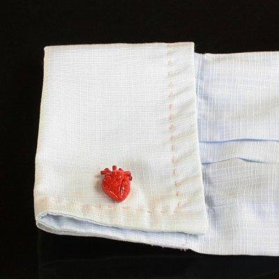 画像3: 心臓モチーフカフスボタン(カフリンクス)