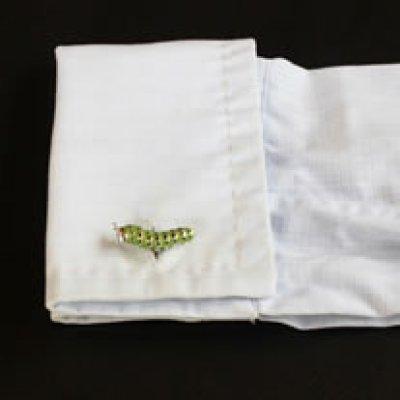 画像3: 青虫カフスボタン(カフリンクス)