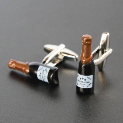 画像1: シャンパン3カフスボタン(カフリンクス)