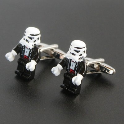画像1: Star Wars スターウォーズ  ストームルーパー カフスボタン(カフリンクス)