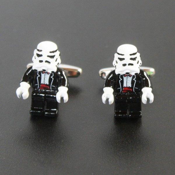 画像1: Star Wars スターウォーズ  ストームルーパー カフスボタン(カフリンクス) (1)