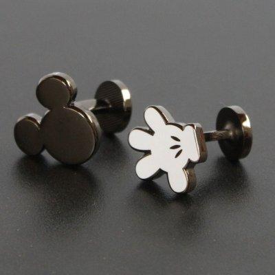 画像1: Disney ディズニー ミッキーマウス&ハンドカフスボタン(カフリンクス)