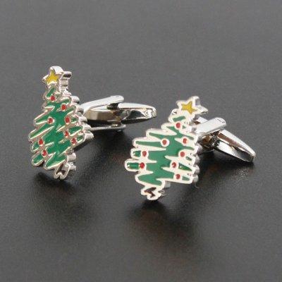 画像1: クリスマスツリーカフスボタン(カフリンクス)