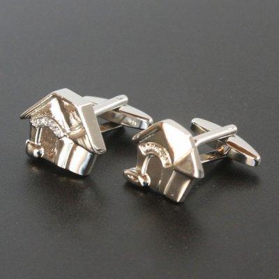 画像1: 犬小屋カフスボタン(カフリンクス)