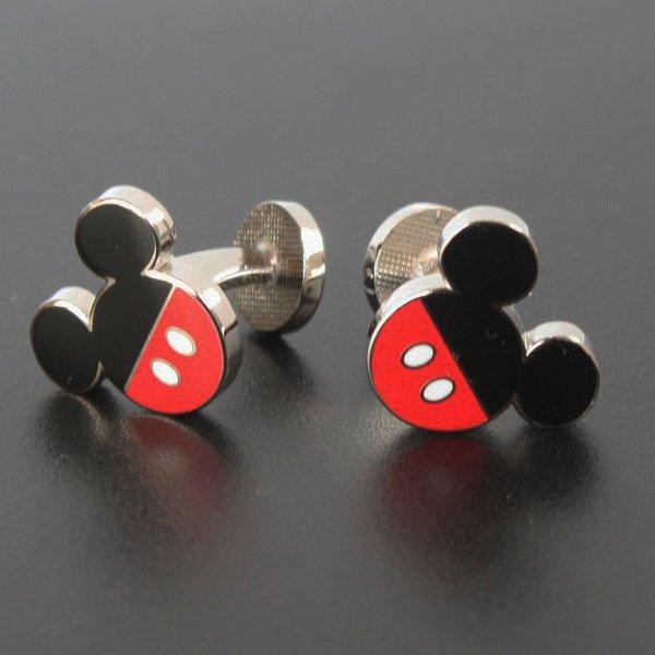 画像1: Disney ディズニー ミッキーマウスパンツカフスボタン(カフリンクス) (1)