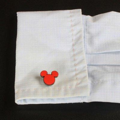 画像3: Disney ディズニー レッドミッキーマウスカフスボタン(カフリンクス)