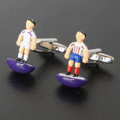 画像1: サッカープレーヤーカフスボタン(カフリンクス)