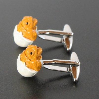 画像2: カラード赤ちゃん亀カフスボタン(カフリンクス)