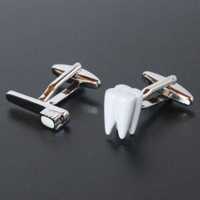 画像1: 歯&歯ブラシカフスボタン(カフリンクス)