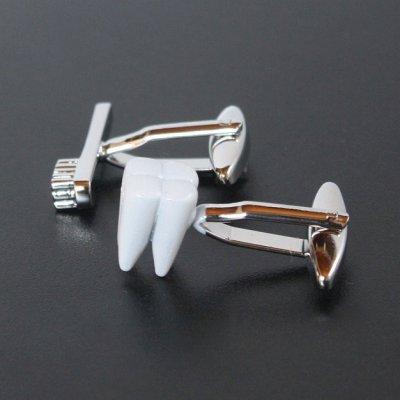 画像2: 歯&歯ブラシカフスボタン(カフリンクス)