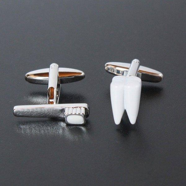 画像1: 歯&歯ブラシカフスボタン(カフリンクス) (1)