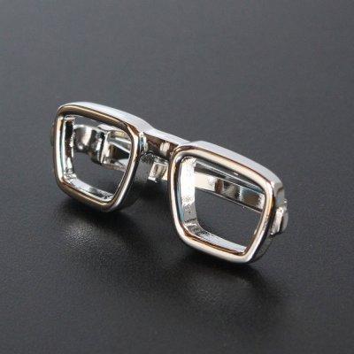 画像1: 眼鏡モチーフネクタイピン(タイバー)