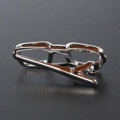 画像2: 眼鏡モチーフネクタイピン(タイバー)