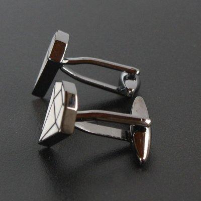 画像2: ダイヤモンドデザインカフスボタン(カフリンクス)