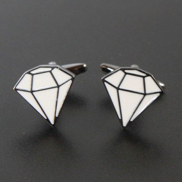 画像1: ダイヤモンドデザインカフスボタン(カフリンクス) (1)