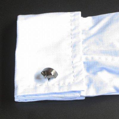 画像3: ガンメタマットラインカフスボタン(カフリンクス)