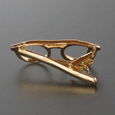 画像2: ゴールド眼鏡デザインネクタイピン(タイバー)
