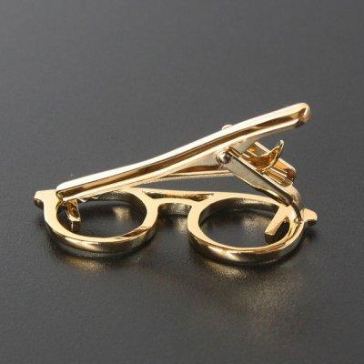 画像3: ゴールド眼鏡デザインネクタイピン(タイバー)