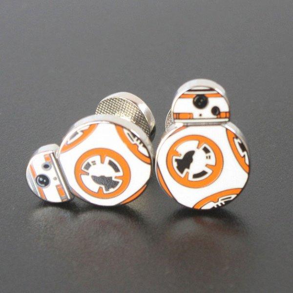 画像1: Star Wars スターウォーズ  BB-8カフスボタン(カフリンクス・カフスボタン) (1)