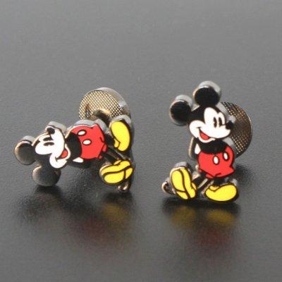 画像1: Disney ディズニー クラシックミッキーマウスカフスボタン(カフリンクス)