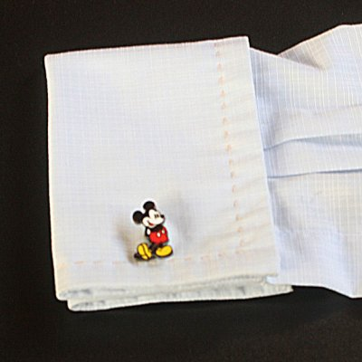 画像3: Disney ディズニー クラシックミッキーマウスカフスボタン(カフリンクス)