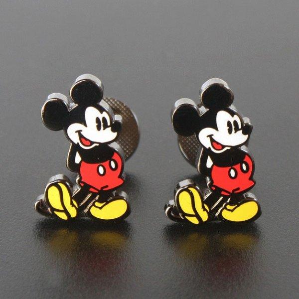 画像1: Disney ディズニー クラシックミッキーマウスカフスボタン(カフリンクス) (1)
