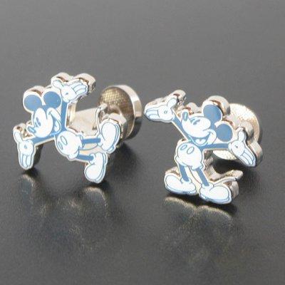 画像1: Disney ディズニー ミッキーマウスビンテージスケッチカフスボタン(カフリンクス)