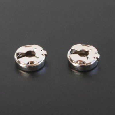 画像2: シルバープレーンラウンドボタンカバー メンズ cf1975
