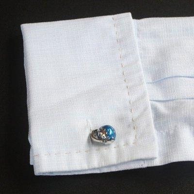 画像3: 青い地球儀カフスボタン