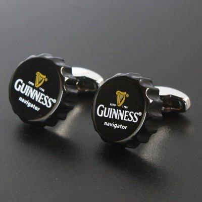 画像1: ギネスビールの王冠カフスボタン