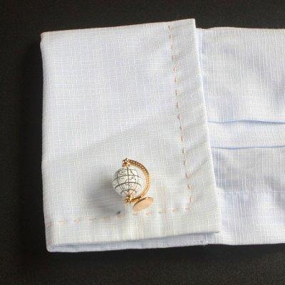 画像3: 白い地球儀カフスボタン
