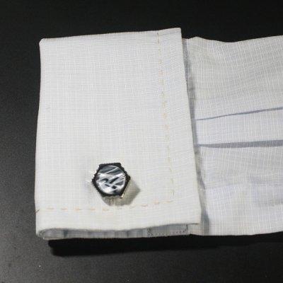 画像3: ヘキサゴンデザインカフスボタン